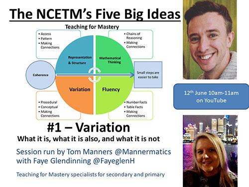 NCETM's Five Big Ideas - Variation